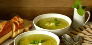 Soupe de courgette fromage et menthe cookeo