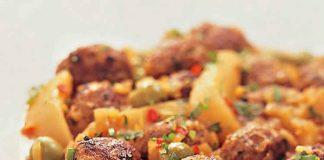 Boulettes de viandes pommes de terre et olives au cookeo