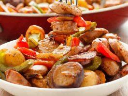 poelee de pommes de terre aux poivrons au cookeo