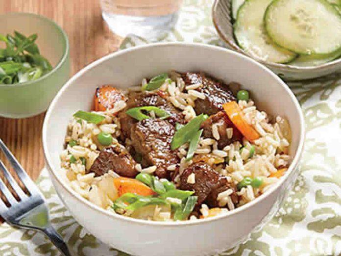 Porc au riz basmati au Cookeo