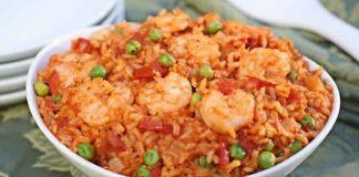 Riz avec crevettes et paprika au cookeo