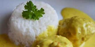 Riz basmati avec boulettes de viande et curry au cookeo