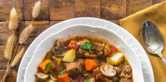 Saute porc aux carottes poireaux champignons au cookeo