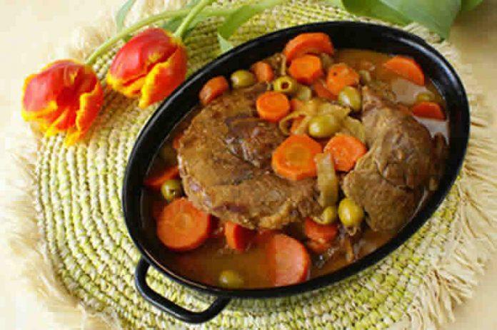 boeuf aux carottes et olives vertes au Cookeo