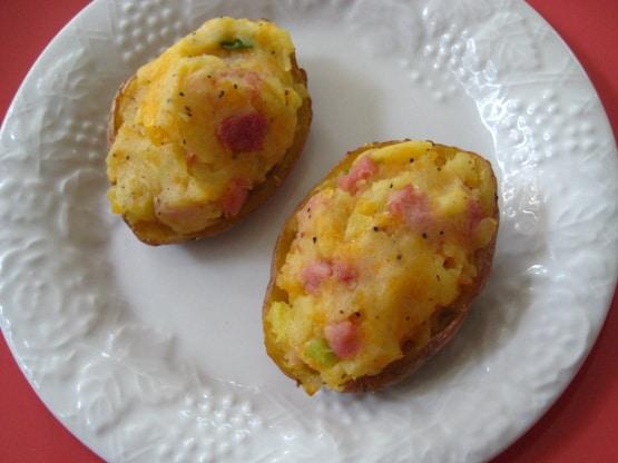 pommes de terre farcies avec jambon au cookeo