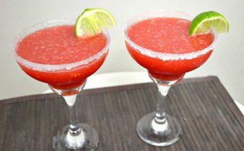 Cocktail fraise rhum au thermomix