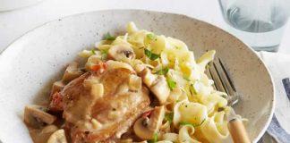 Blanc de poulet champignons et creme fraiche au cookeo