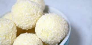 bouchees boules de citron et noix de coco avec thermomix