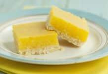 Carrés au citron - Barres au citron