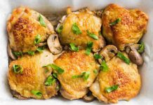 Cuisses de poulet avec champignons au cookeo