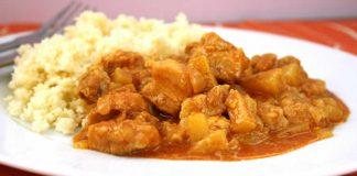 Emince de porc au curry avec thermomix
