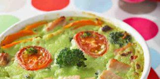Flan de brocoli avec lardon au thermomix