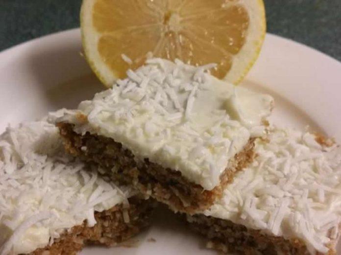 Gateau sans cuisson au citron et la noix de coco avec thermomix