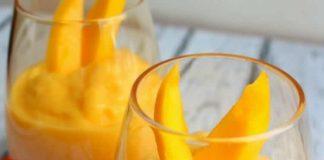 Glace de mangue au yaourt avec thermomix