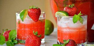Mojito fraise avec thermomix