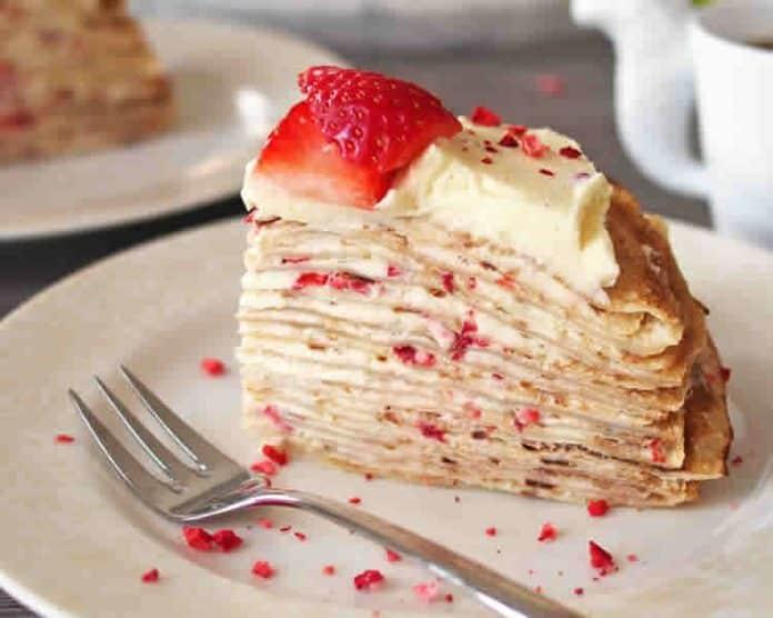 Recette crêpe à la crème et fraise w-w