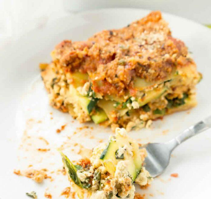 Recette lasagnes au thon et courgettes avec thermomix