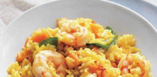 Riz aux crevettes et curry au cookeo