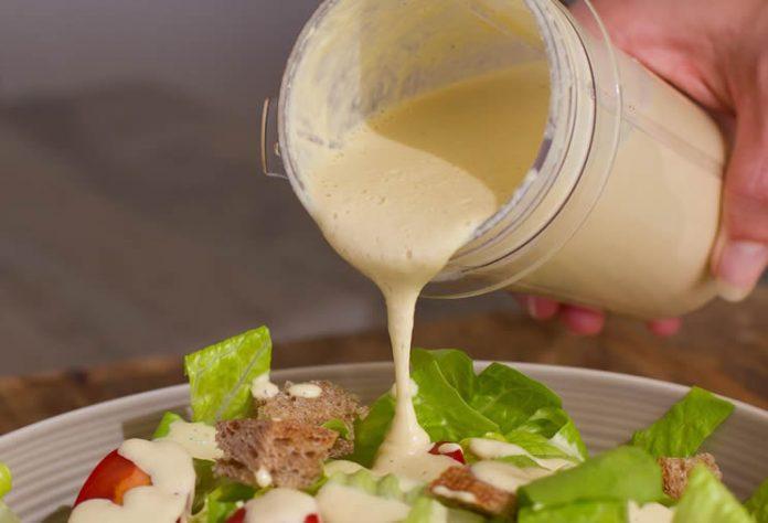 Sauce salade cesar avec thermomix