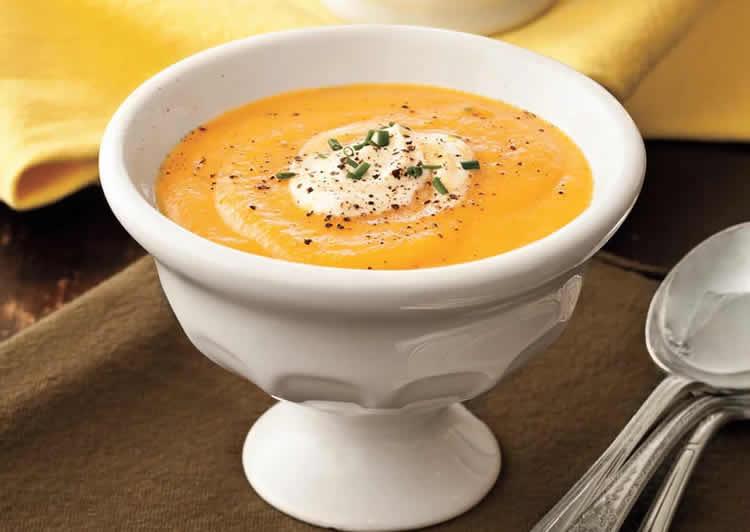 Soupe froide de carottes et citron avec thermomix recette thermomix - Soupe de brocolis thermomix ...