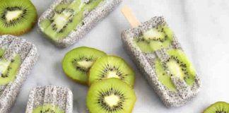 Sucette glacee kiwi et lait de coco avec thermomix