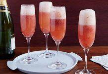 cocktail de champagne aux fraises avec thermomix