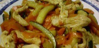 poulet courgette et carottes au cookeo