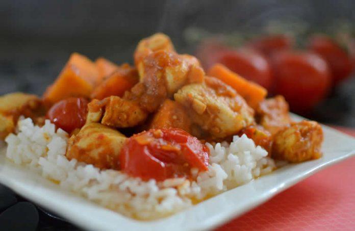 poulet et patate douce au cookeo