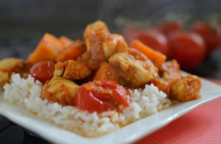 Poulet et patate douce au cookeo recette cookeo - Recette poulet patate douce ...