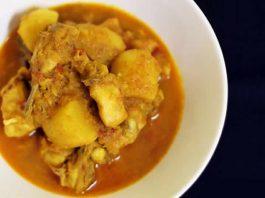 poulet pomme de terre curry au cookeo