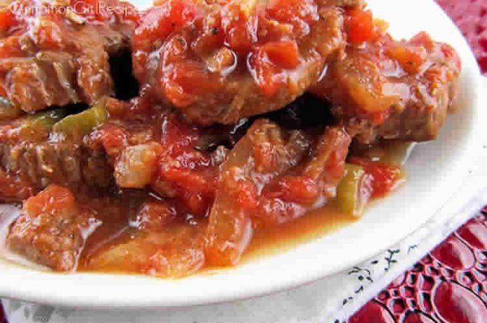 Boeuf a la sauce tomate et poivrons au cookeo