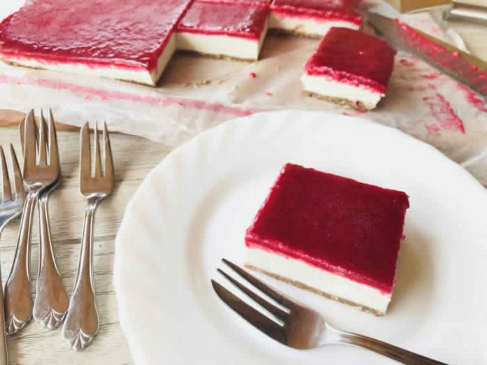 Cheesecake au coulis de framboises avec thermomix