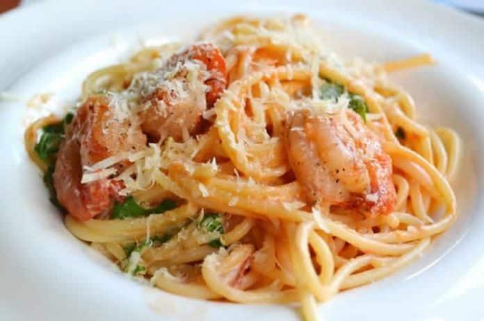 Crevettes au spaghetti à la crème au thermomix