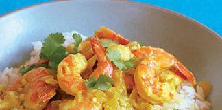 Crevettes avec lait de coco et curry au thermomix