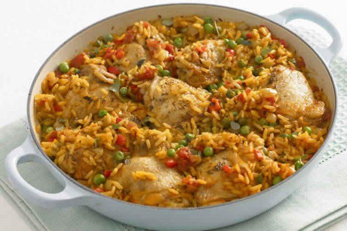 Cuisses de poulet riz et ses legumes au cookeo