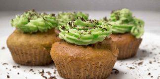Cupcakes à la crème de coco et thé vert avec thermomix