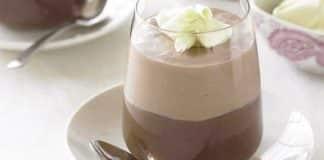 Mousse au chocolat blanc et chocolat au lait au thermomix