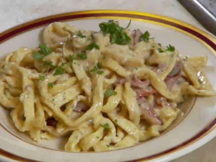 Pates aux lardons et curry au cookeo