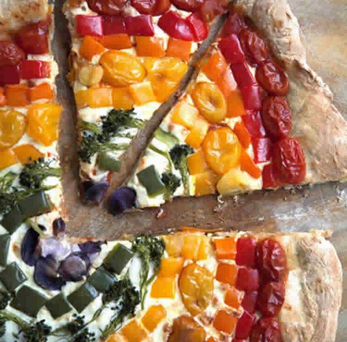 Pizza arc en ciel avec thermomix