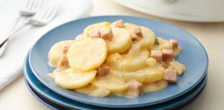 Pommes de terre fondantes et jambon au cookeo