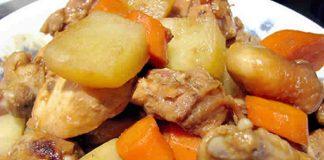 Poulet aux pommes de terre et carottes au cookeo
