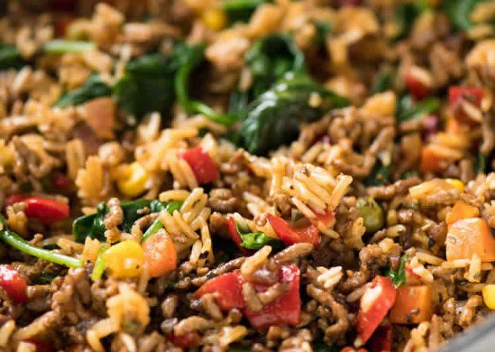 riz aux legumes et a la viande hachee au cookeo
