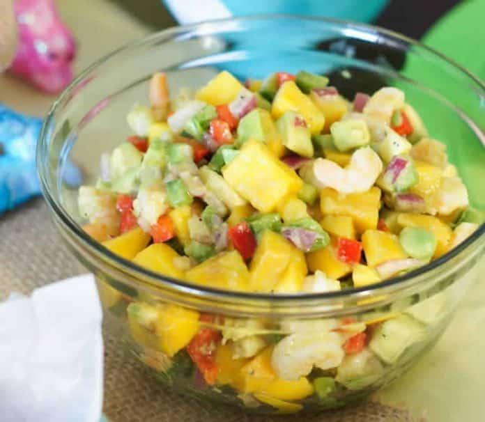 Salade crevettes avocat et mangue au thermomix