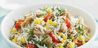 Salade de riz et thon facile