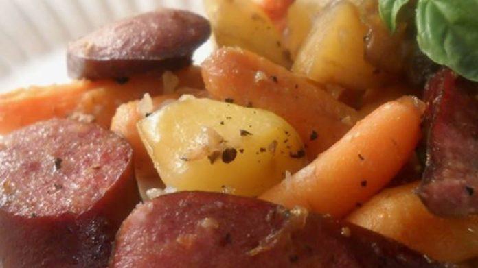 Saucisse aux legumes au cookeo