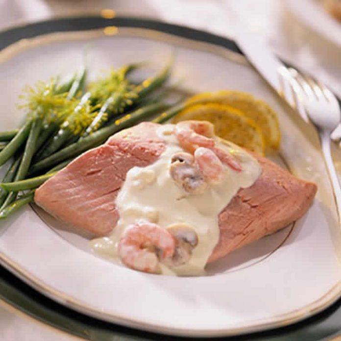 Saumon sauce crevettes au thermomix