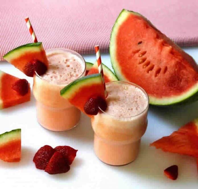 Smoothie fraise pastèque au thermomix