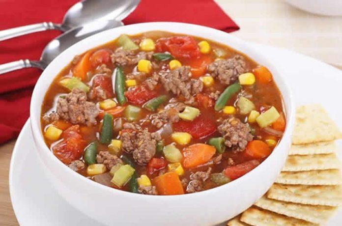 Soupe Boeuf hache et legumes au cookeo