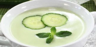 Soupe concombre et menthe au thermomix