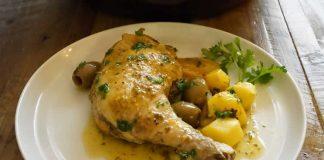 Tajine poulet pommes de terre olive au cookeo